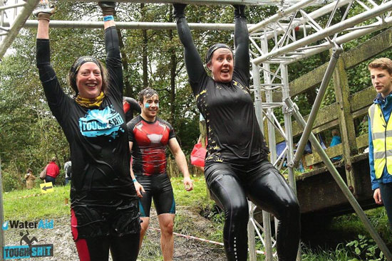 Jenny gets muddy in WaterAid's Tough Sh!t race