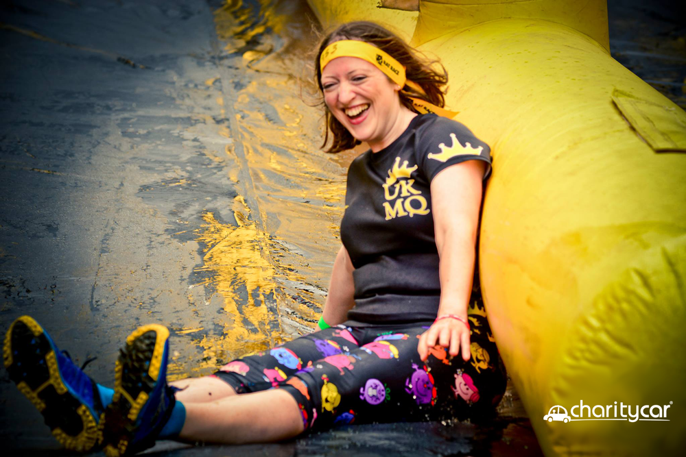 Jenny from the Charity Car team getting some practice in at a mud run earlier this year!
