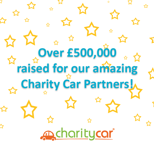 Charity Car donation milestone graphic